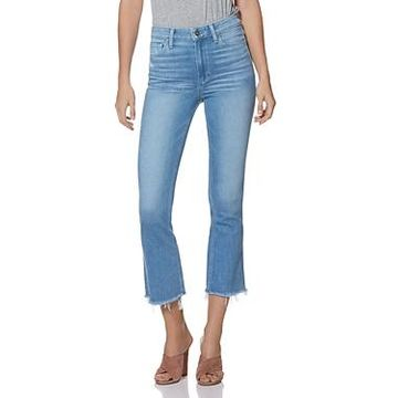 Paige Colette Crop Flared Jeans in Baybreak