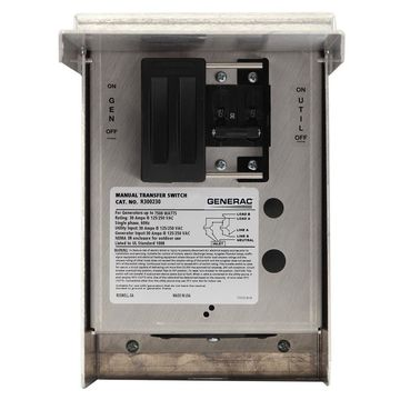 Generac 30-Amp Single Circuit Manual Transfer Switch