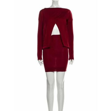 Virgin Wool Midi Length Dress Wool