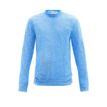 Jil Sander - Chunky Linen Sweater - Mens - Blue