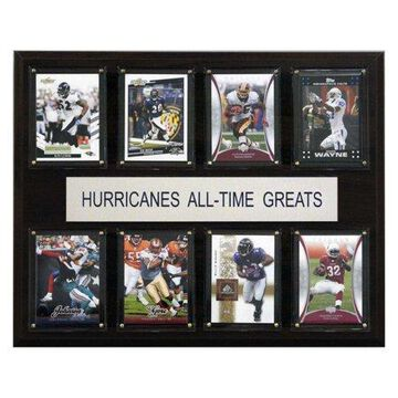 C&I Collectables NCAA Football 12x15 Miami Hurricanes All-Time Greats Plaque