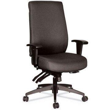 Alera Alera Wrigley Series 24/7 High Performance High-back Multifunction Task Chair, Up To 300 Lbs, Black Seat/back, Black Base