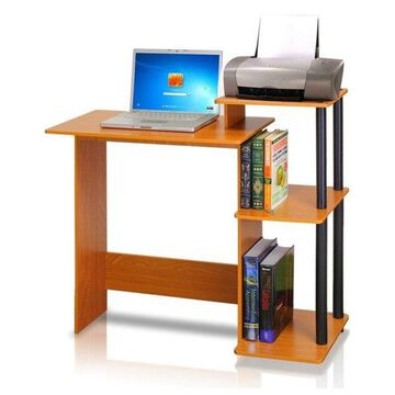 Furinno Efficient Computer Desk, Light Cherry/Black