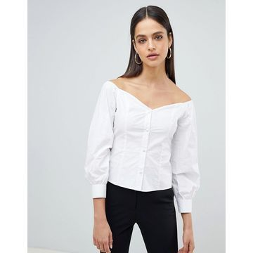 Fashion Union Bardot Fitted Shirt