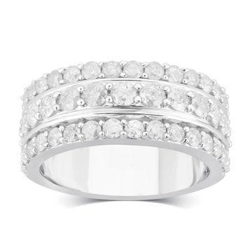 Divina Sterling Silver 2.00ct TDW Diamond Anniversary Ring