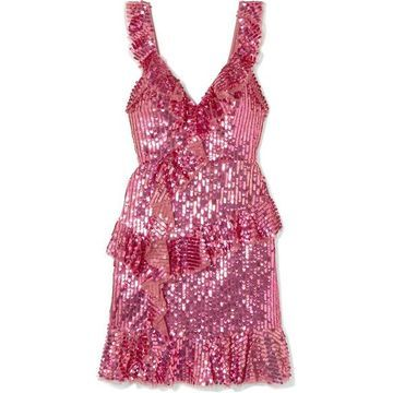 Needle & Thread - Scarlett Sequined Tulle Mini Dress - Pink