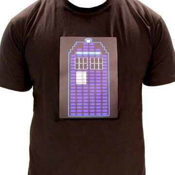 Doctor Who TARDIS Sound Activated LED Light Up Adult T-Shirt (Adult XX-Large)