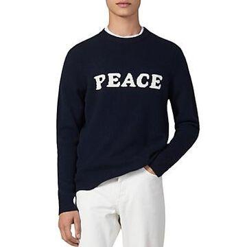 Sandro Peace Wool & Cashmere Crewneck Sweater