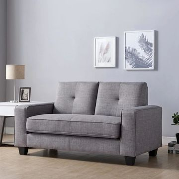 Furniture of America Lowery Modern Gray Love Seat