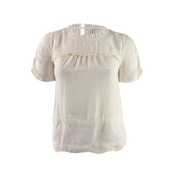 Kensie Women's Ruffled Lace-Trim Blouse