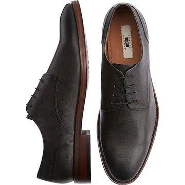 Joseph Abboud Men's Saffiano Charcoal Plain Toe Derbys - Size: 11.5 D-Width