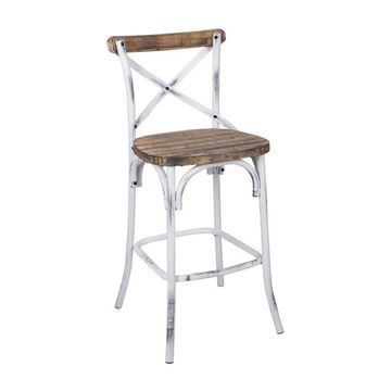 Benzara Modern White Accent Chair in Off-White | BM152030