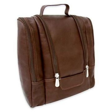 Piel Leather 10-Inch Hanging Travel Toiletry Kit in Chocolate