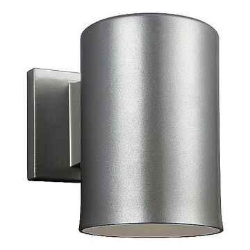 Sea Gull Lighting Outdoor Cylinders Wall Sconce - Color: Silver - Size: Small - 8313801-753