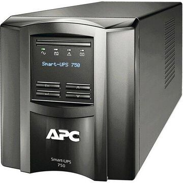 APC by Schneider Electric Smart-UPS 750VA LCD 120V US - Tower - 3 Hour Recharge - 5 Minute Stand-by - 110 V AC Input - 120 V AC Output - 6 x NEMA 5-15R