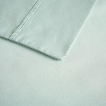 Beautyrest 400 Thread Count Wrinkle Resistant Cotton Sateen Sheet Set, Lt Green, FULL SET