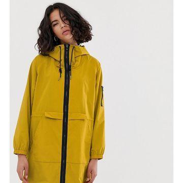 Esprit nylon lightweight parka jacket in mustard
