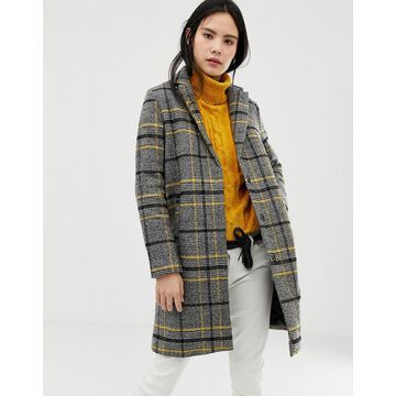 QED London brushed check coat