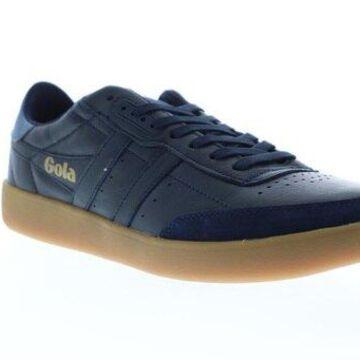 Gola Inca Leather Navy Baltic Gum Mens Low Top Sneakers