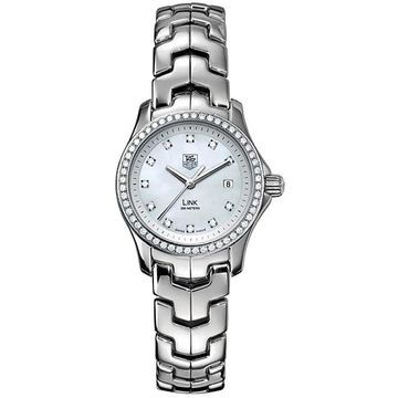 Tag Heuer Women's WJF1319.BA0572 'Link' Stainless Steel Watch (Stainless Steel - 200 Meters - White - Silver - 8 Inch - Analog - Stainless Steel -
