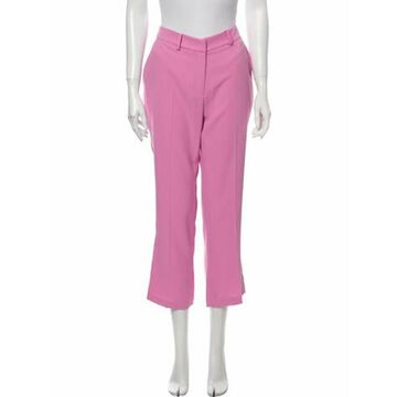 Mid-Rise Straight-Leg Pants Pink