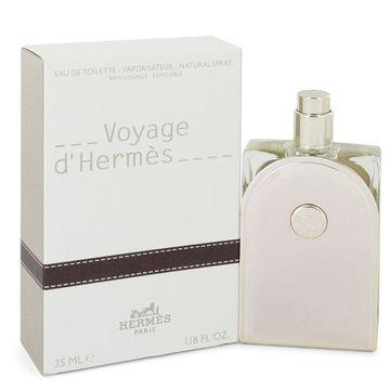 3 Pack Voyage D'Hermes by Hermes Eau De Toilette Spray Refillable 1.18 oz for Men