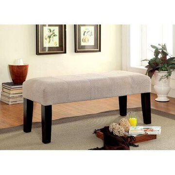 Furniture of America Diani Ivory Upholstered Bench
