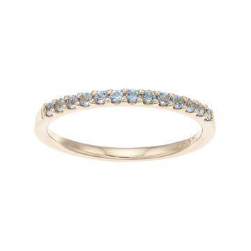 Boston Bay Diamonds 14k Gold Aquamarine Stack Ring