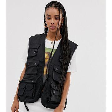 Reclaimed Vintage revived vest in black