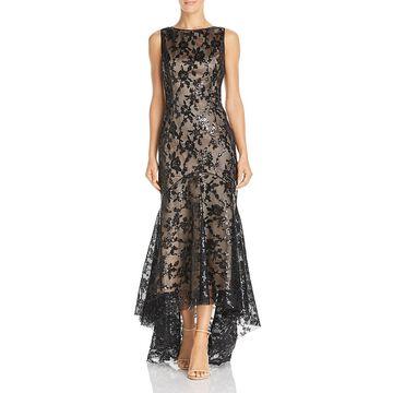 Eliza J Womens Sequined Mermaid Evening Dress