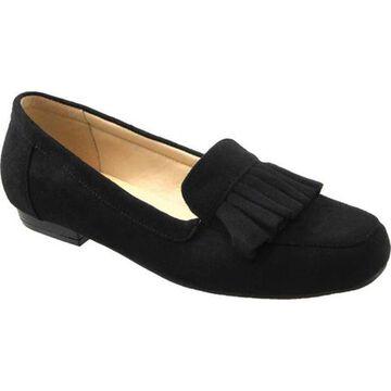 Beacon Shoes Women's Megan Loafer Black Microsuede