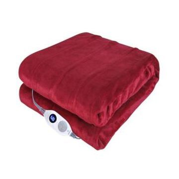 """Westinghouse Heated Throw Velour with Sherpa Reverse, 50"""" x 60"""" Bedding"""