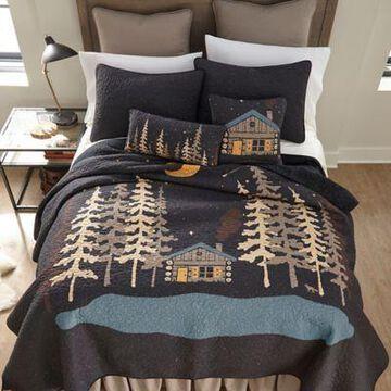 Donna Sharp Moonlit Cabin Twin Quilt, 61204