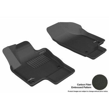 3D MAXpider 2009-2017 VW Tiguan Front Row All Weather Floor Liners in Black with Carbon Fiber Look