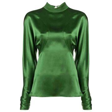 Victoria Beckham Green Silk Tops