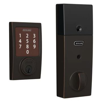 Schlage BE479-CEN Sense Century Touchscreen Smart Deadbolt - Aged Bron