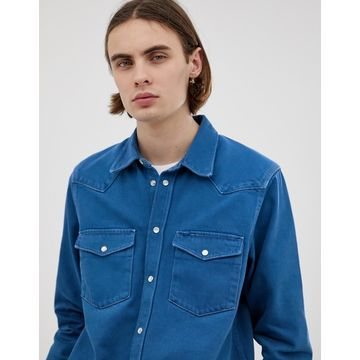 Weekday Rin Tin shirt Super blue