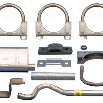 Rugged Ridge Exhaust Parts, Omix Replacement Muffler and Tailpipe Kit
