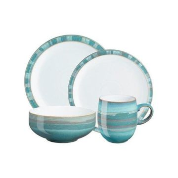 Denby Azure Coast 4-Piece Dinnerware Set, Set of 8