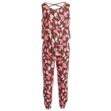 Toddler Girls Butterfly-Print Jumpsuit, Created for Macy's