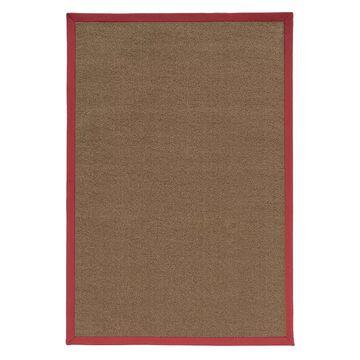Linon Faux Sisal Rug, Brown, 7X9 Ft