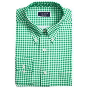 Club Room Men's Classic/Regular Fit Non-Iron Stretch Medium Gingham Dress Shirt, Created for Macy's