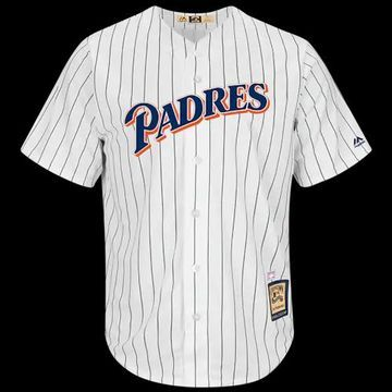 Majestic MLB Cool Base Player Jersey - San Diego Padres - White, Size One Size