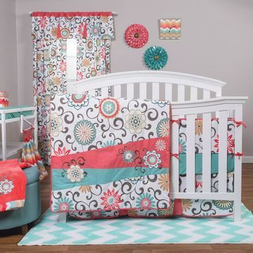 Waverly& Baby by Trend Lab& Pom Pom Play 4-Piece Crib Bedding Set