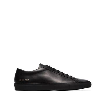 black Achilles leather low-top sneakers