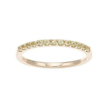 Boston Bay Diamonds 14k Gold Peridot Stack Ring