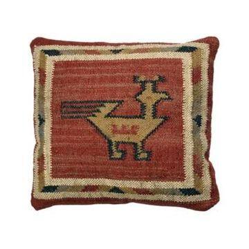 """St. Croix Hacienda Tribal Jute and Wool Pillow, 18"""" x 18"""""""