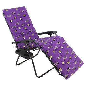 College Covers NCAA LSU Tigers Outdoor Chaise Lounge Cushion