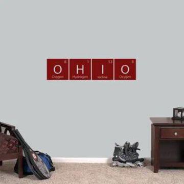Ohio Periodic Table Wall Decal