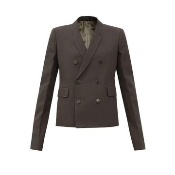 Rick Owens - Double-breasted Crepe Jacket - Womens - Grey